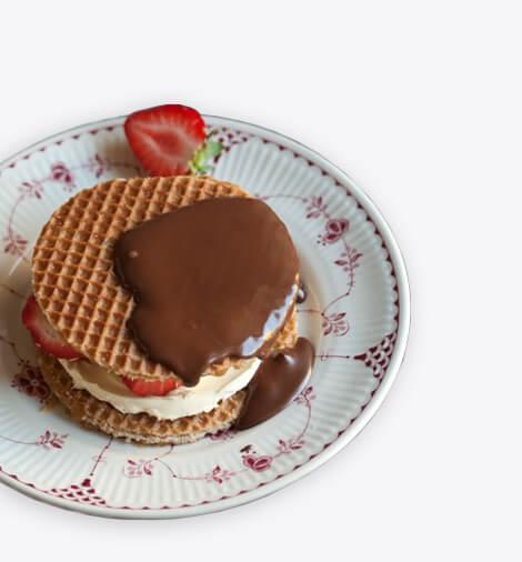Karamelové wafle dezert - homepage