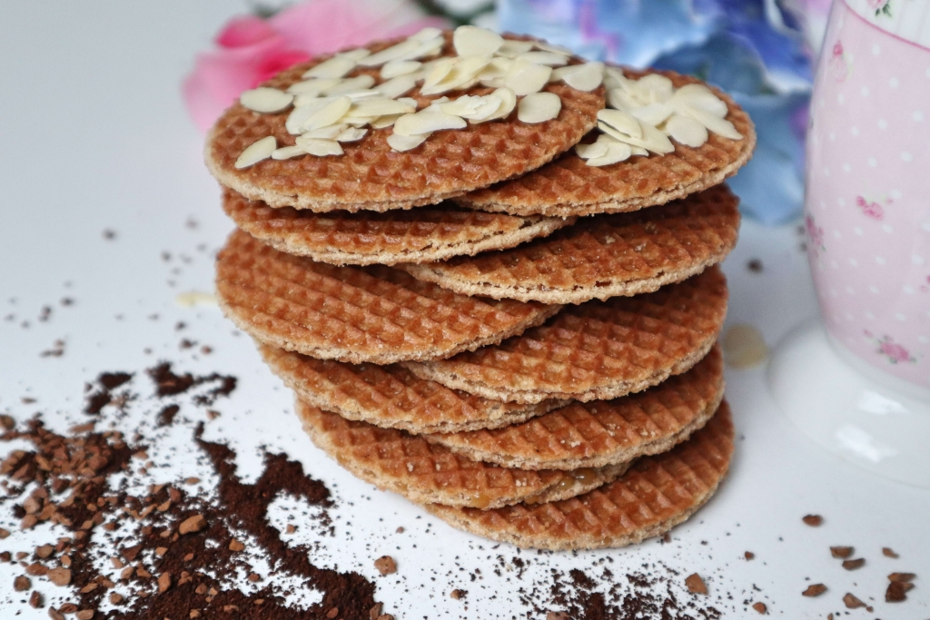 Holandské karamelové wafle