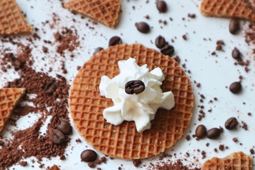 Výborná karamelová wafla a šľahačka